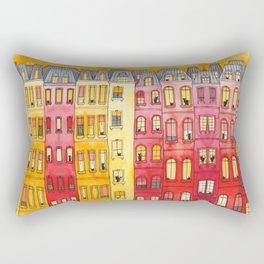 The Sunset Townhouse Block Rectangular Pillow