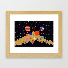 Albuquerque balloon festival work A Framed Art Print