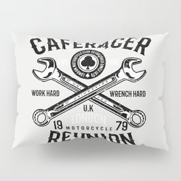 Cafe Racer Reunion Vintage Tools Poster Pillow Sham