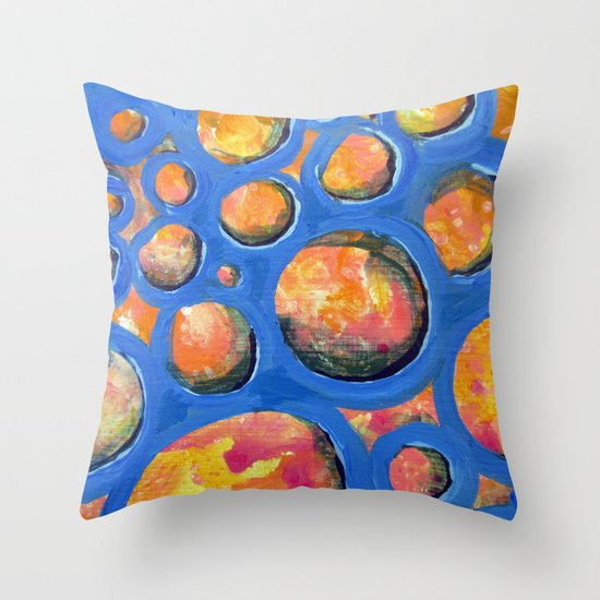 Vinyl Throw Pillows : Blue Vinyl Throw Pillow by Pajaritaflora Society6