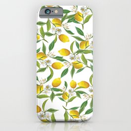 Spring lemons iPhone Case