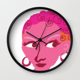 Lady and Pretty Pie Wall Clock