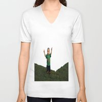ace V-neck T-shirts featuring Ace by Samual Lewis Davis BMmSt CQU