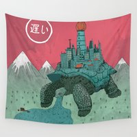 kaiju Wall Tapestries featuring Slow by Arron Croasdell
