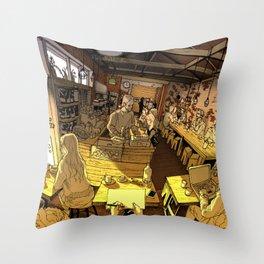 Monk bodhi dharma Throw Pillow
