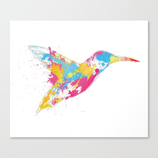 Bird of colour Canvas Print