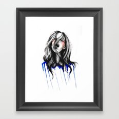 In Our Wildest Moments // Fashion Illustration Framed Art Print