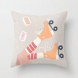 Roller skate girl 003 Throw Pillow
