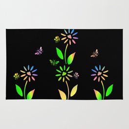 Bees And Flowers Rug