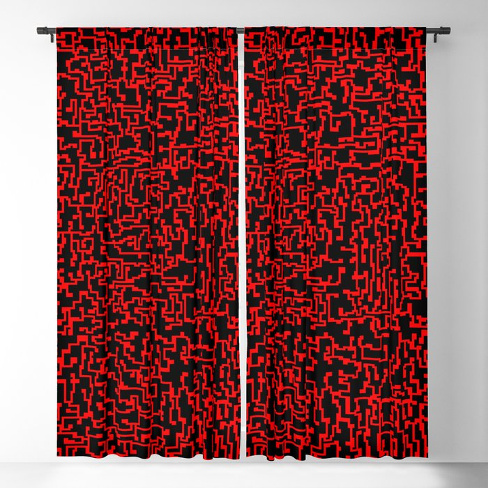 thought 2, red on black Blackout Curtain