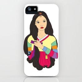 장화 'The Korean Rose' iPhone Case