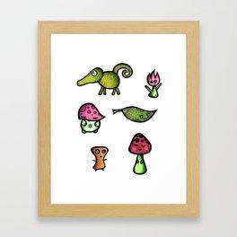 Woodland Monster Collection Framed Art Print