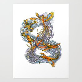 Rise of the Phoenix Art Print