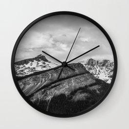 Mountain Landscape Black and White Photography Minimalism Nature Travel Wall Clock