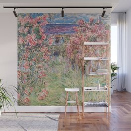 Monet, The House Among The Roses, 1917-1919 Wall Mural