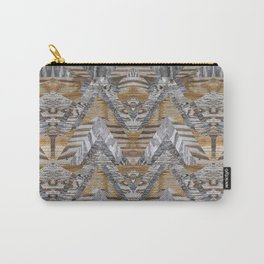 Wood Quilt 2 Carry-All Pouch
