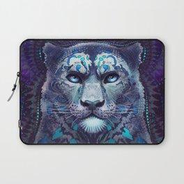Snow Leopard Late Night Laptop Sleeve