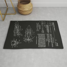 Space Shuttle Patent - Black Rug