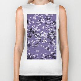 Ultra Violet Glitter Stars #1 #shiny #decor #art #society6 Biker Tank