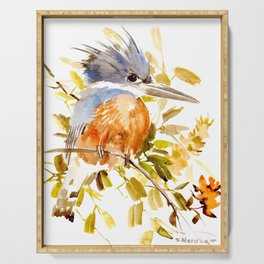 Belted Kingfisher home decor Serving Tray