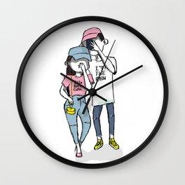 Cute Couple Wall Clock