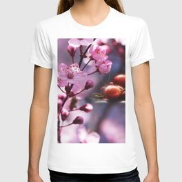Fresh cherries in the pink blossom dream T-shirt