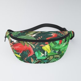 Flowers and Birds Fanny Pack