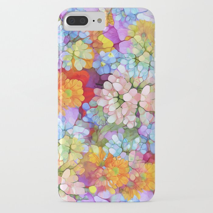 rainbow flower shower iphone case