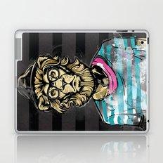 Hipster Lion on Black Laptop & iPad Skin