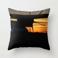 plane Throw Pillows featuring Plane by Eliel Freitas Jr