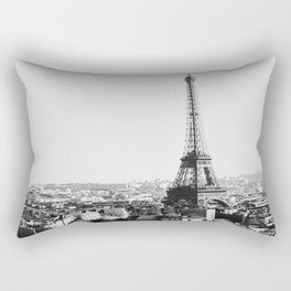 Paris City Sky // Eiffel Tower City Landscape Photography Shot from the top of Champs Elysees France Rectangular Pillow