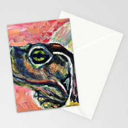 Abstract turtle painting Stationery Cards