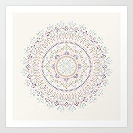 Jardin Mandala - Orchid Art Print