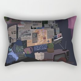 Conspiracy Theorist Rectangular Pillow