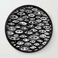 The Third Eye Black Wall Clock