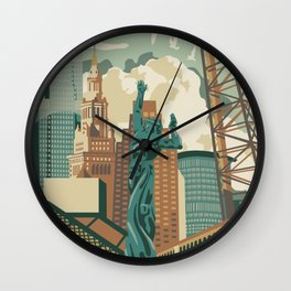 Cleveland City Scape Wall Clock
