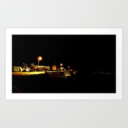 Night time in Tobermory Art Print