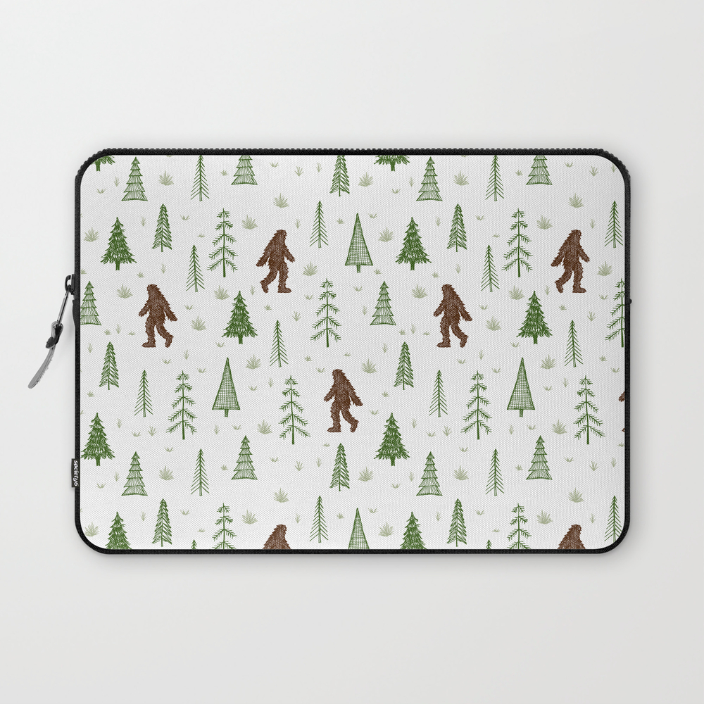 Trees + Yeti Pattern In Color Laptop Sleeve LSV8597777