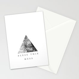 Bless this mess Stationery Cards