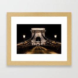 Széchenyi Chain Bridge // Budapest, Hungary Framed Art Print