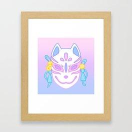 Kitsune Mask (pastel) Framed Art Print