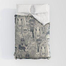 cryptid crowd indigo pearl Comforters