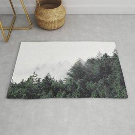 Green Misty Forest Rug