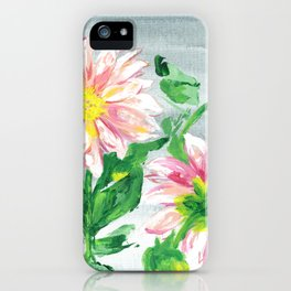 Dahlias for a cloudy day i iPhone Case