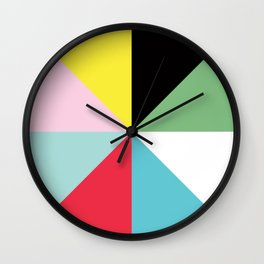 Color Block One Wall Clock