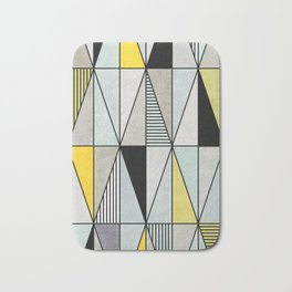 Colorful concrete triangles Bath Mat