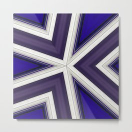 Angles in Blue and Purple Metal Print