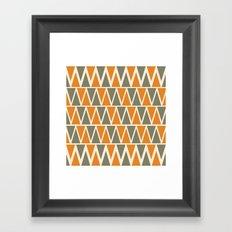 Green And Orange Triangles  Framed Art Print