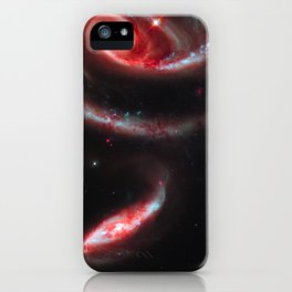 Galaxy Rose Red iPhone Case