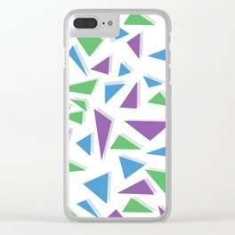 Triangle Scramble Clear iPhone Case